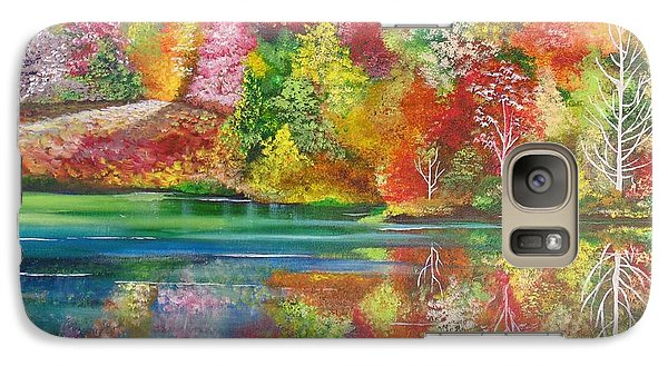 Galaxy Case featuring the painting My Hiding Place by Nereida Rodriguez