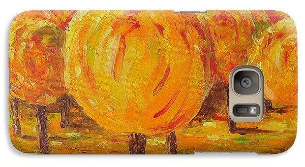 Galaxy Case featuring the painting My Hot Autumn by Nina Mitkova