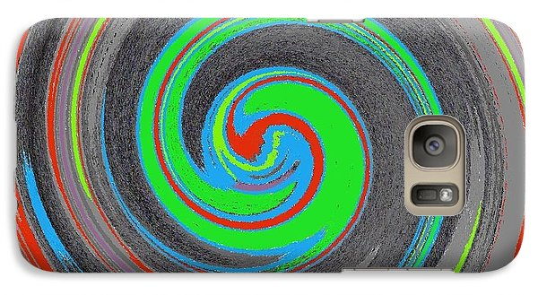 Galaxy Case featuring the digital art My Hurricane by Catherine Lott