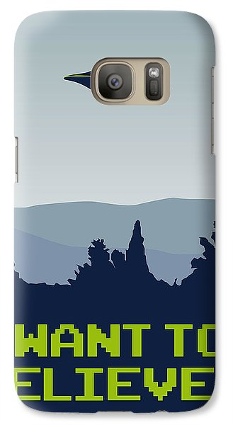 My I Want To Believe Minimal Poster Galaxy S7 Case by Chungkong Art