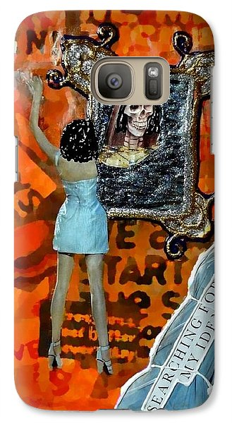 Galaxy Case featuring the painting My Identity by Lisa Piper
