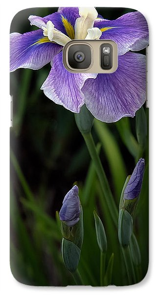 Galaxy Case featuring the photograph My Iris by Penny Lisowski
