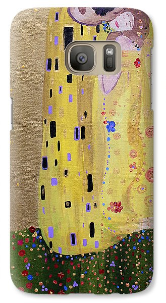 Galaxy Case featuring the painting My Kiss by Stacey Zimmerman