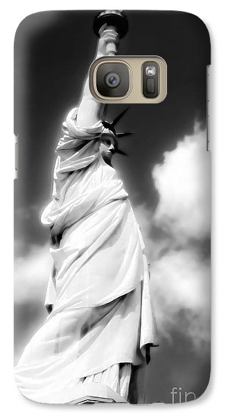 Galaxy Case featuring the photograph My Lady Liberty by Janie Johnson
