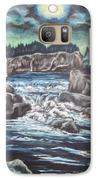 Galaxy Case featuring the painting My Land My Imagination 2 by Cheryl Pettigrew