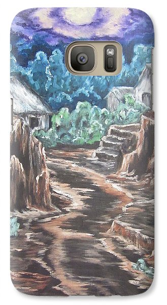 Galaxy Case featuring the painting My Land My Imagination by Cheryl Pettigrew