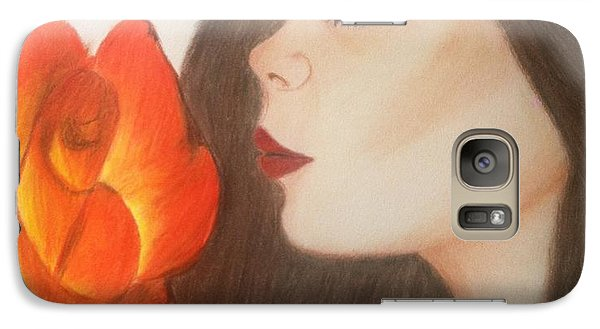 Galaxy Case featuring the drawing My Life Is Like A Rose by Saribelle Rodriguez