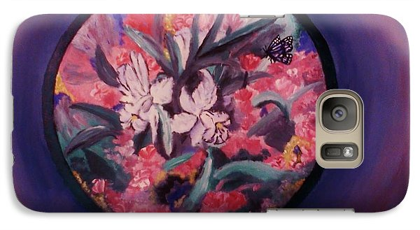 Galaxy Case featuring the painting My Lilies by Christy Saunders Church