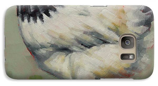 Galaxy Case featuring the painting Light Sussex Hen by Margaret Stockdale