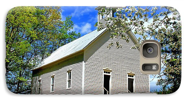 Galaxy Case featuring the photograph My Little Country Church by Geraldine DeBoer