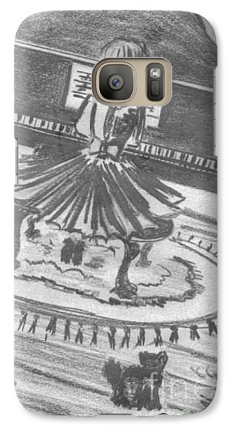 Galaxy Case featuring the drawing My Love by Laurie L