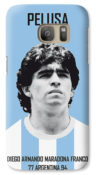 My Maradona Soccer Legend Poster Galaxy S7 Case by Chungkong Art