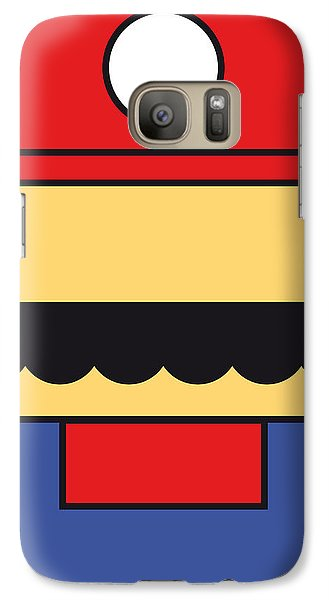Castle Galaxy S7 Case - My Mariobros Fig 01 Minimal Poster by Chungkong Art