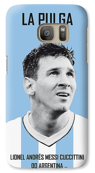 Sports Galaxy S7 Case - My Messi Soccer Legend Poster by Chungkong Art