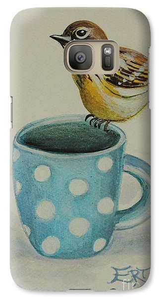 Galaxy Case featuring the painting Polka Dot Songbird Delight by Elizabeth Robinette Tyndall