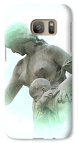 Galaxy Case featuring the photograph My Mother by Yury Bashkin