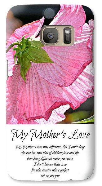 Galaxy Case featuring the photograph My Mother's Love by Lila Fisher-Wenzel