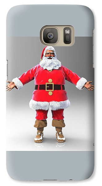 Galaxy Case featuring the sculpture My Name Is Santa by Dave Luebbert