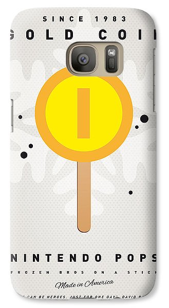 Peach Galaxy S7 Case - My Nintendo Ice Pop - Gold Coin by Chungkong Art