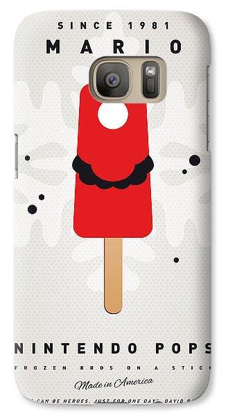 Peach Galaxy S7 Case - My Nintendo Ice Pop - Mario by Chungkong Art