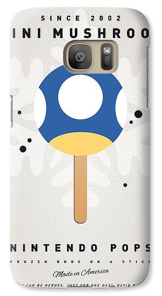 Peach Galaxy S7 Case - My Nintendo Ice Pop - Mini Mushroom by Chungkong Art