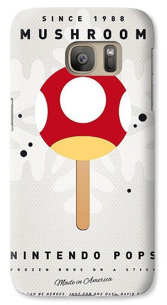 Peach Galaxy S7 Case - My Nintendo Ice Pop - Mushroom by Chungkong Art