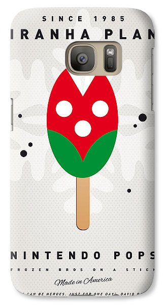 Peach Galaxy S7 Case - My Nintendo Ice Pop - Piranha Plant by Chungkong Art