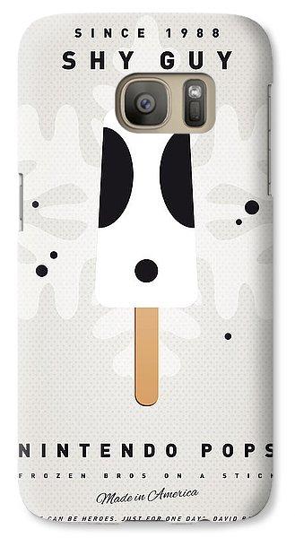 Peach Galaxy S7 Case - My Nintendo Ice Pop - Shy Guy by Chungkong Art