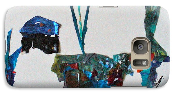 Galaxy Case featuring the mixed media My Own Sweet Time by Mary Sullivan