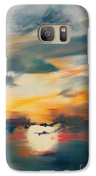 Galaxy Case featuring the painting My Paradise Sunrise by PainterArtist FIN