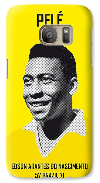 My Pele Soccer Legend Poster Galaxy S7 Case by Chungkong Art
