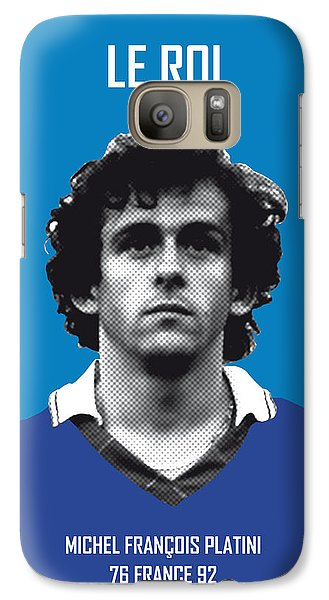 My Platini Soccer Legend Poster Galaxy S7 Case by Chungkong Art