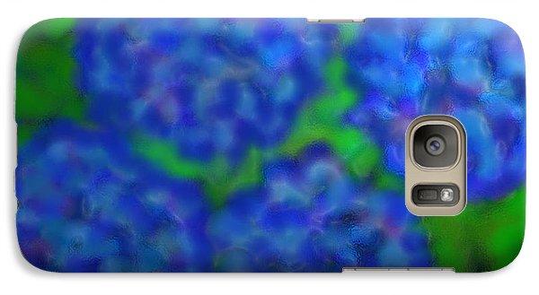 Galaxy Case featuring the digital art My Rain Soaked Hydrangeas by Latha Gokuldas Panicker
