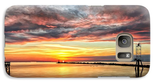 Galaxy Case featuring the painting My Return To Cape Charles Virginia by Michael Pickett