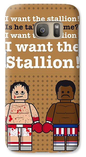 My Rocky Lego Dialogue Poster Galaxy Case by Chungkong Art