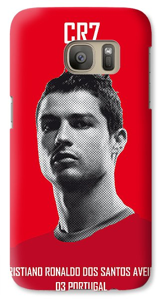 Sports Galaxy S7 Case - My Ronaldo Soccer Legend Poster by Chungkong Art