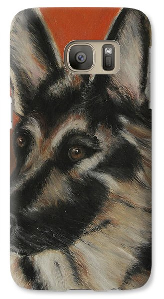 Galaxy Case featuring the painting My Sadie by Jeanne Fischer