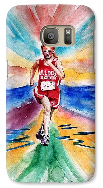 Galaxy Case featuring the painting My Sarah Running Cross Country by Richard Benson