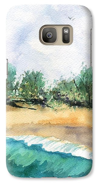 Galaxy Case featuring the painting My Secret Beach by Marionette Taboniar