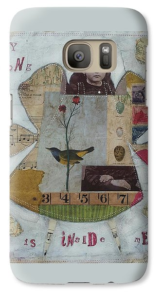 Galaxy Case featuring the painting My Song Is Inside Me by Casey Rasmussen White
