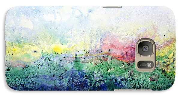 Galaxy Case featuring the painting My Spirit My Sky by Ron Richard Baviello