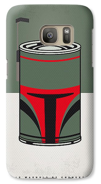 My Star Warhols Boba Fett Minimal Can Poster Galaxy S7 Case by Chungkong Art