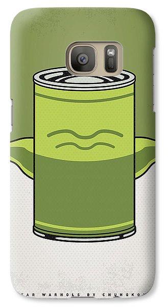 My Star Warhols Yoda Minimal Can Poster Galaxy S7 Case