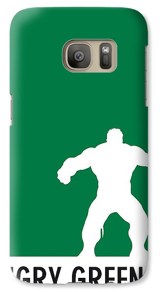 My Superhero 01 Angry Green Minimal Poster Galaxy S7 Case