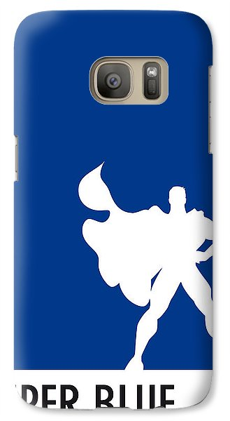 My Superhero 03 Super Blue Minimal Poster Galaxy S7 Case