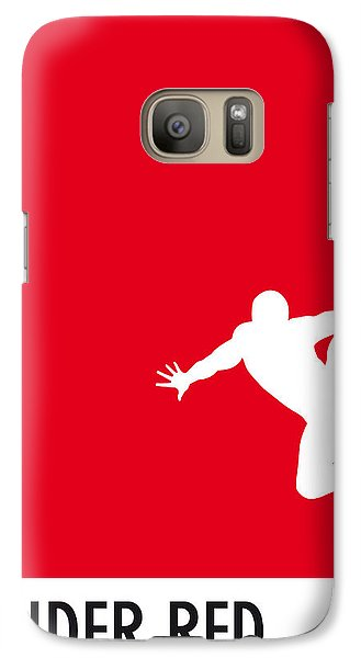 My Superhero 04 Spider Red Minimal Poster Galaxy S7 Case