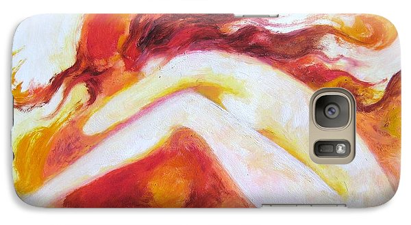 Galaxy Case featuring the painting My Thoughts Are My Own by Marat Essex