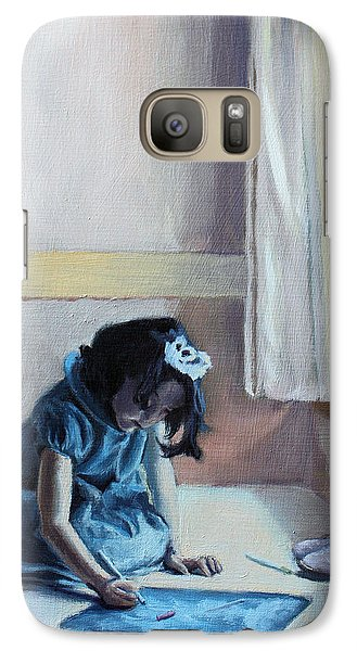 Galaxy Case featuring the painting My Time by Rachel Hames