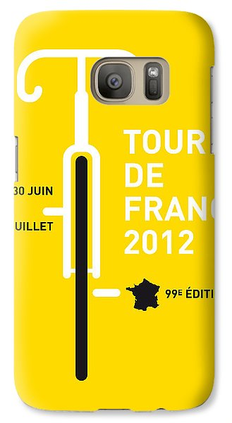 Bicycle Galaxy S7 Case - My Tour De France 2012 Minimal Poster by Chungkong Art