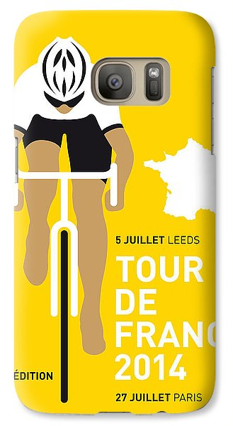 Bicycle Galaxy S7 Case - My Tour De France Minimal Poster 2014 by Chungkong Art